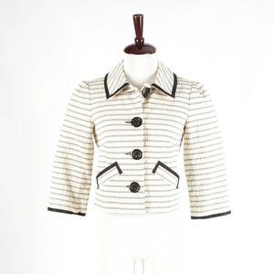 NANETTE LEPORE – Striped Blazer Jacket – Size 4